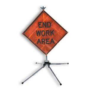 """GMP ROLLUP SIGN PANEL 36"""" FLAGGER SYMBOL - STAND NOT INCLUDED"""