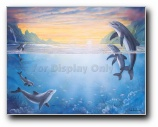Swimming Dolphins Print