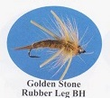 Golden Stone Rubber Legs Bead Head