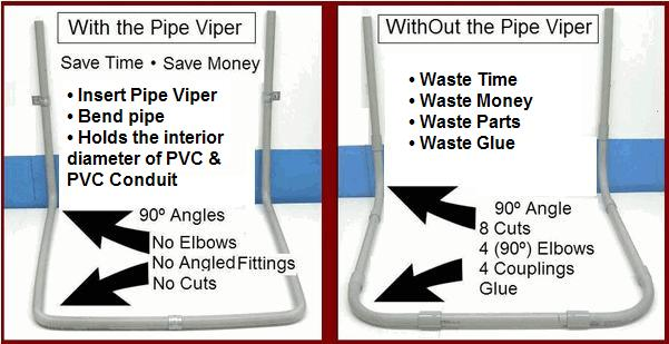 Pictures With and WithOut The Pipe Viper