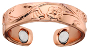 Copper Floral Ring