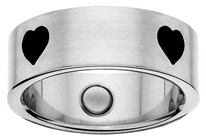 jewelry magnetic, magnetic ring, stainless steel magnetic ring