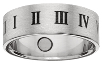 Roman Numeral Ring, stainless steel ring, roman numerals, magnet rings