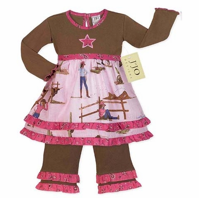 Western Horse Cowgirl Baby Girls Infant 2pcSet or Dress