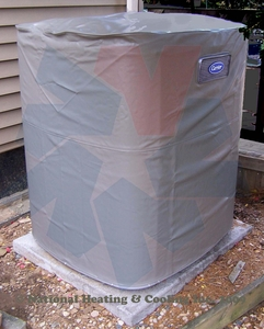 """Carrier Winter Air Conditioner Cover ICC58-079 fits Condenser numbers 24ABA442 series 0, 24ABA460 series 0, 24ABR360 series 2 & 3, 24ACA442 series 0 and 24ACA460 series 0. A/C Unit dimensions 45 15/16""""H x 35""""W x 35""""D"""