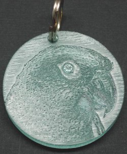 Fun-Max Zoo-Max Ingraved Acrylic Key Ring Conure