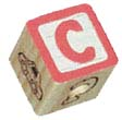 "Super Bird Creations Wood ABC Blocks 1 1/8"" 12ct"
