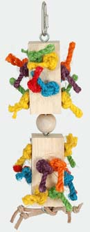 Paradise Toys Featherland Wood Blocks & Sisal Rope