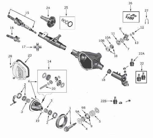 dana 20 axle diagram  dana  free engine image for user