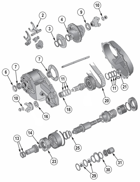New Process Np208 Transfer Case Parts For Wagoneer  Full Size Cherokee And J