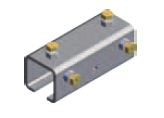 XA-32059,  C-Track Welded Joint Assembly Stainless Steel