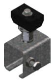 XA-50307,  Track Anchor Clamp Assembly Stainless Steel