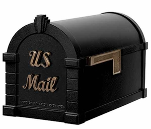 Keystone Mailbox Signature Series Black w/Antique Bronze