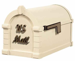 Keystone Mailbox Signature Series Almond w/Antique Bronze