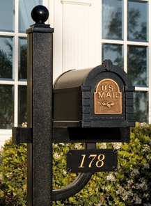 Keystone Deluxe Mailbox Address Plaque