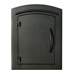 Manchester Black Column Mailbox Insert Plain Door