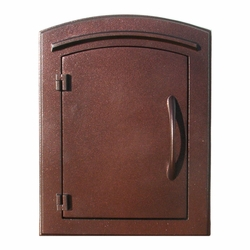 Manchester Antique Copper Column Mailbox Insert Plain Door