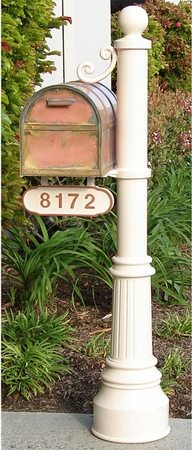 Streetscape Large Oxford Mailbox with Newport Post and Address Plaque