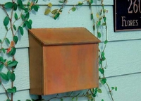 Solid Brass Wall Mount Mailbox with Locking Option