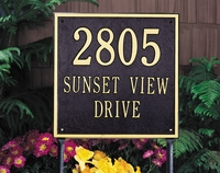 Square Address Plaque