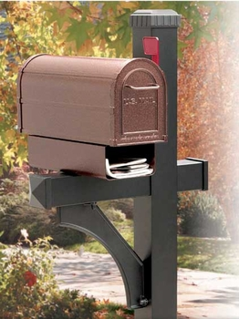 Deluxe Rural Mailbox and Post