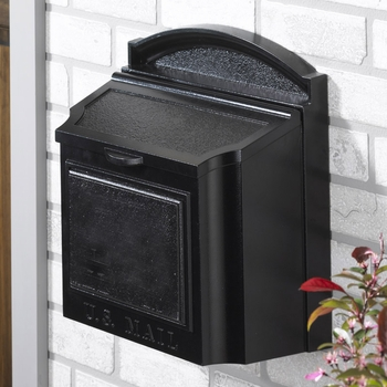 Whitehall Wall Mount Mailbox...Black