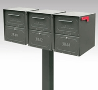 Oasis Jr. Triple Locking Mailbox and Post