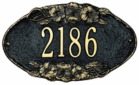 Pansy Oval Plaque