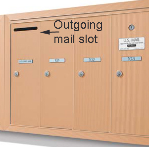 Apartment Vertical Locking Usps Approved Door Mailboxes