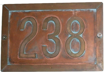 Gateway Column Mailbox 3 Digit  Address Plaque ... Mounts on Column