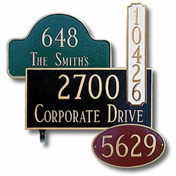 Select and address plaque to compliment your new mailbox