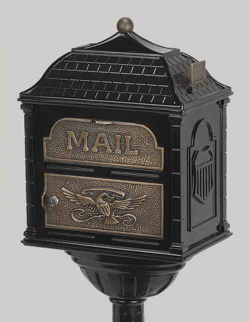 Gaines Classic Victorian Locking Mailbox Black with Antique Bronze