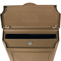 Whitehall Wall Mount Mailbox with Address Plaque