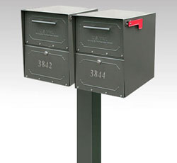 Oasis Jr. Double Locking Mailbox and Post