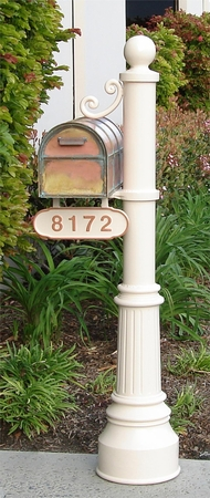 Streetscape Westchester Mailbox with Newport Post and Address Plaque