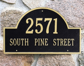 Column Mailbox Address Plaques