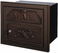 Gaines Classic Faceplate Column Insert Mailbox Bronze w/Antique Bronze
