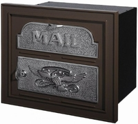 Gaines Classic Faceplate Column Insert Mailbox Bronze w/Satin Nickel