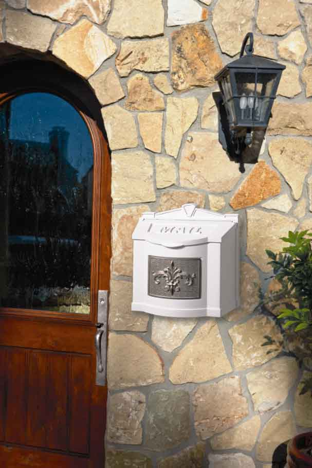 Gaines Wall Mount Mailbox White