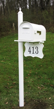 Sarasota Curbside Mailbox Post with Address Plaque