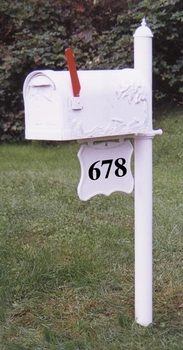 Brighton Mailbox Post with Address Plaque