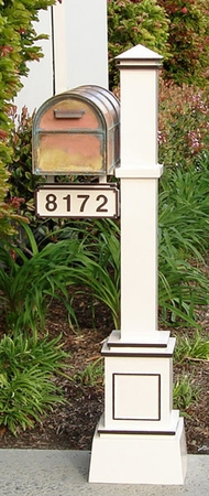 Streetscape Crafstman Post with Westchester Mailbox and Address Plaque