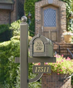 "Keystone ""Original""  Eagle Mailbox and Deluxe Post"