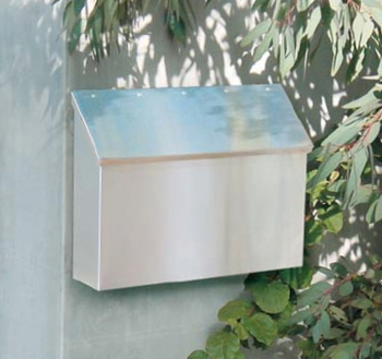Stainless Steel Wall Mount Mailbox With Locking Option