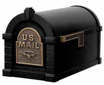 Keystone Mailbox Original Eagle Series Black w/Antique Bronze