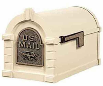 Keystone Mailbox Original Eagle Series Almond w/Antique Bronze