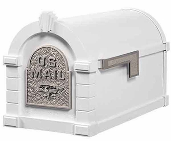 Keystone Mailbox Original Eagle Series White w/Satin Nickel