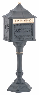Victorian Colonial Pedestal Locking Mailbox