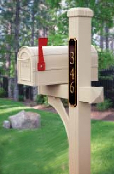 Country Rural Mailbox and Post