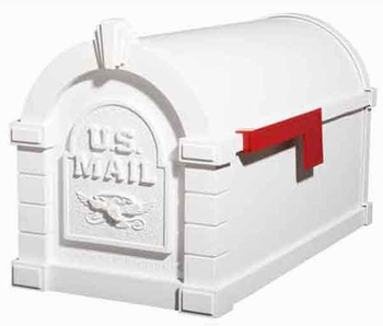 Keystone Mailbox Original Eagle Series White w/White